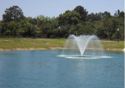 Fountain at Floral Gardens in Fondren Gardens, Houston